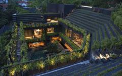 résidence rustique nouvelle écologique verte
