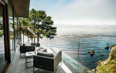 balcon belle vue sur l'océan maison moderne