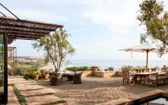 terrasse patio avec imprenable panorama sur l'océan