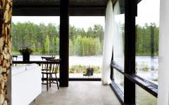 murs transparents maison contemporaine avec vue