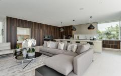 mobilier aménagement canapé d'angle luxe séjour belle maison