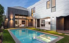 piscine extérieure belle maison de luxe architecte