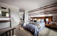 chambre au lit double design moderne meubles