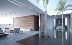 maison architecte avec patio