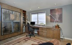 bureau chaleureux en bois massif décoration éclectique