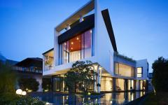aspect de maison d'architecte luxe à Singapour