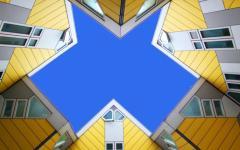 belle maison d'architecte créative originale cube houses pays-bas