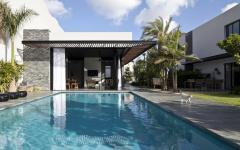 jardin et piscine maison de ville moderne