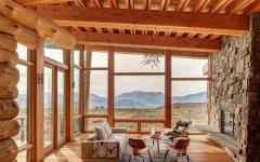 intérieur maison en bois brut design