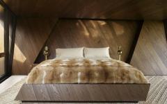 chambre au lit encastré artisanal