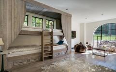 dortoir lits superposés en bois massif rustique