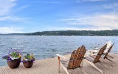 quai résidence de luxe au bord de lac