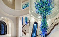 entrée maison toscane de luxe lustre créatif chic