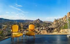 Vue splendide à 360° sur le désert