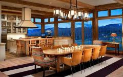 splendide salle à manger ambiance vacances à la montagne