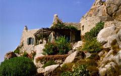 maison traditionnelle de vacances île grecque