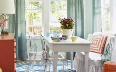 intérieur mobilier retro villa de plage