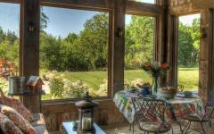 véranda belle vue bucolique maison de vacances