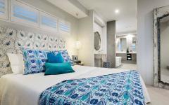 chambre à coucher principale double lit