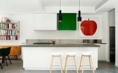 intérieur éclectique cuisine en blanc