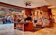 intérieur rustique de luxe