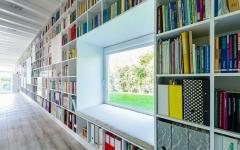 maison neuve bibliothèque personnelle
