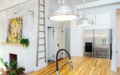 comptoir bois massif loft contemporain