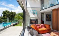 intérieur extérieur en béton maison industrielle