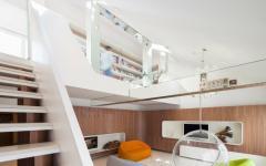 séjour loft mezzanine futuriste