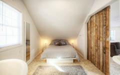 intérieur aménagement des combles chambre