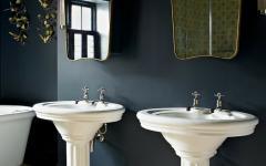 salle de bain design noir original