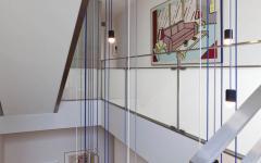 escalier intérieur maison en bois familiale luxe