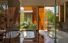 salle de bains design luxe éco bois