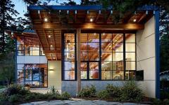 éclairage maison en bois belle demeure de vacances lac