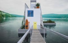 maison passive autosuffisante flottante