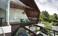 extérieur maison familiale singapour architecture