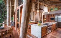 intérieur bois rustique élégant luxe maison à louer mexique