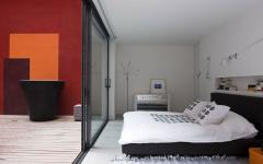 chambre des parents moderne loft citadin luxe