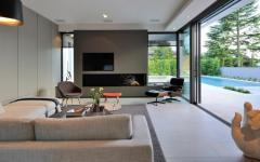 séjour luxe maison avec piscine