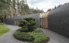 extérieur maison d'archi en bois
