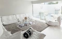 séjour assises canapé blanc