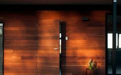 porte d'entrée maison modulaire en bois durable