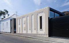 maison contemporaine originale en briques