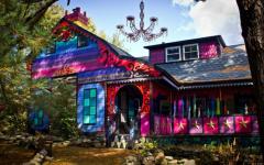 couleurs pétillantes maison originale et unique