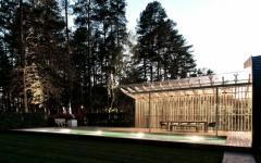 maison plain-pied original en bois