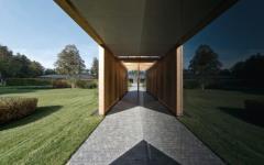 couloir bandes de propreté maison d'archi en bois