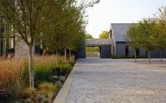 chemin pavés espaces extérieurs maison de charme