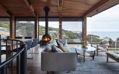 moderne claire et agréable agrandissement de maison d'architecte