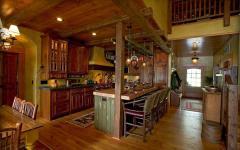 cuisine au design déco rustique en bois