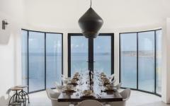 salle à manger face à la mer maison de vacances cornwall